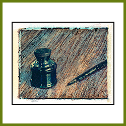 Pen and Ink Bottle (Image Transfer)